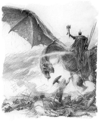 Eowyn versus the Nazgul - Alan Lee