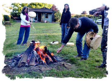 Fire Blessing for the new drums ©vcsinden2012