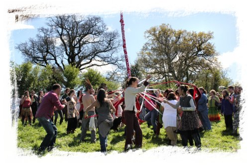 Maypole dancing - Glastonbury Beltane celebration ©vcsinden2012