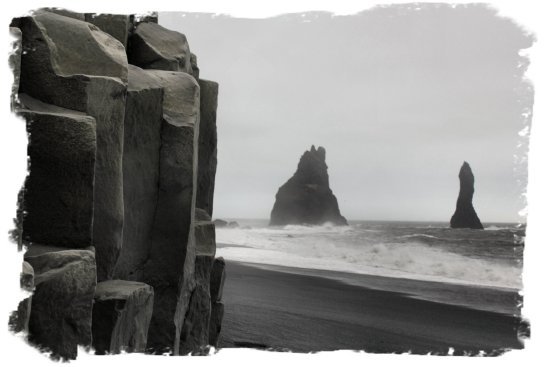 iceland - rock formations on the way to Vik at Reynisdrangar ©vcsinden2012
