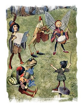 Do fairies have music festivals? here is a picture by Horace Knowles of one that he saw around 90 years ago ....