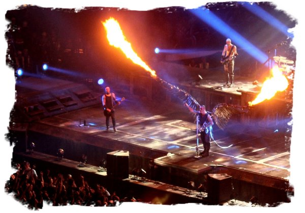 Til Lindeman of Rammstein at the 02 in London - sings 'Engel' Feb 2012 ©vcsinden2012
