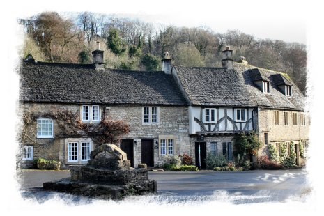 Castle Combe in Wiltshire on a deserted December day ©vcsinden2012