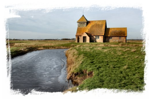 Fairfield Church in February, Romney Marsh, Kent ©vcsinden2013