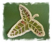 Elven Leaf Brooch © Marie Wright at Ravelry