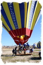Atmosfer Balloon ground crew prepare Cappadocia, Turkey ©vcsinden2014