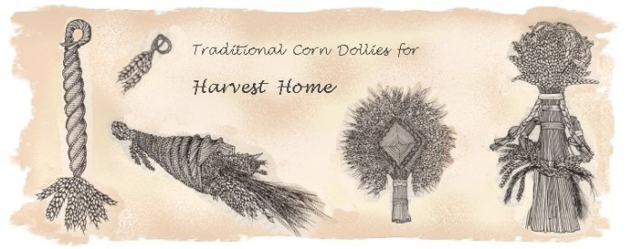 Traditional corn dollies - amulets for a fine harvest