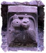 Baby birds with snake corbel at Kilpeck Church, Herefordshire ©vcsinden2014