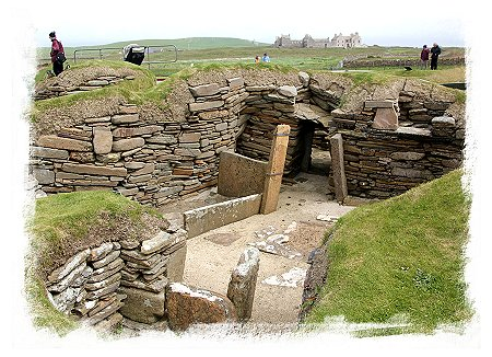 Skara Brae,house with stone bed,  mainland Orkney ©vcsinden2015