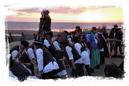 Jack-in-the-Green, May 1st  2015 at Whitstable with Dead Horse Morris ©vcsinden2015
