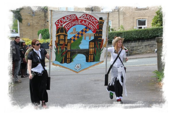 Sowerby Bridge Rushbearing Festival 2015 - head of the parade ©vcsinden2015