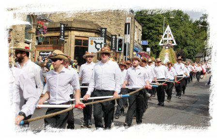 Sowerby Bridge Rushbearing Festival 2015 -  the bearers ©vcsinden2015