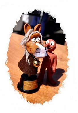 Aardman Aninmations Trophy for Best Beast - with Morph,  Sidmouth Horse Trials, Folk Week ©vcsinden2018