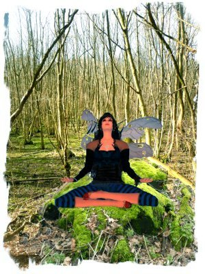 The wood warden fairy Muddypond Green, in  magic meditation for Spring