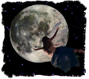 Full Moon and the hedgerow faery ©vcsinden2010