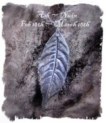Ogham Ash Leaf pendant in solid silver from Wild Roses