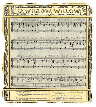 'Willow, Willow' illustrated by Walter Crane