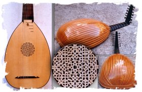 English lutes from yew wood - handmade at Lues and Guitars.co.uk