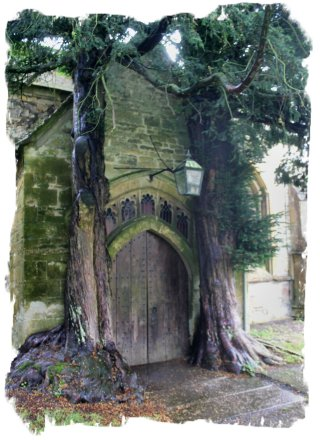 The 'Yew Tree Door' at the rear of St Edward's Church, Stowe ©vcsinden2012