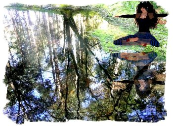 Reflections in the black pool - Hurst Wood, Charing