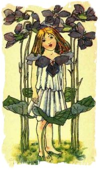 Nellie Benson illustration - Violet Flower Girl