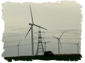 Wind turbines at Romney Marsh, Kent