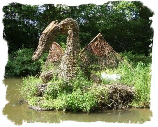 The Willow Dragon - by Alan at AJS Crafts for Groombridge Place, Kent
