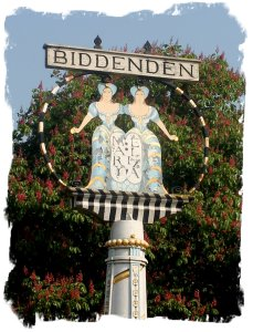 Biddenden, kent - village sign post