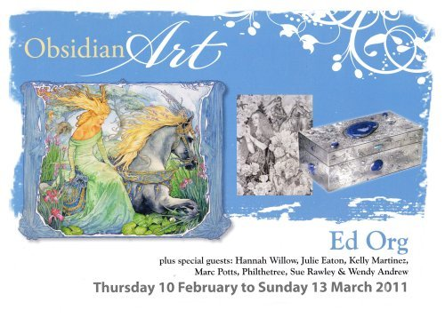 Ed Org - brochure for exhibition at Obsidian Art 2011