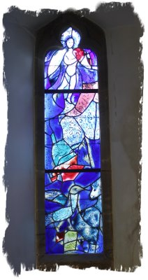 Marc Chagal, stained glass window in All Saints, Tudely, Kent, UK