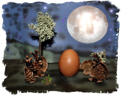 Muddypond's cone dragons discover an egg under the alder moon ©vcsinden2012