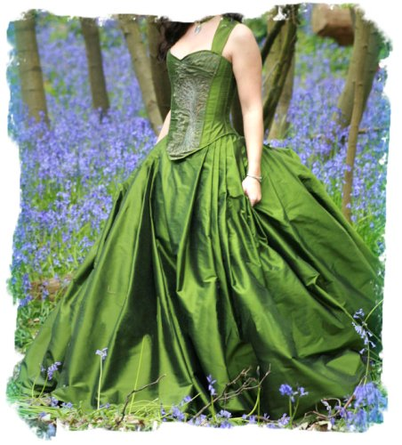 Green Forest Gown by Uptight Clothing