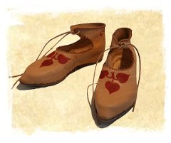 Medieval, decorated shoes from NP Historical Shoes