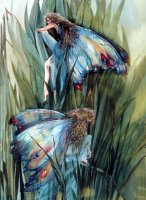 Fairy artist Trudi Finch canvas.