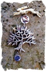 Hannah Willow jewellery - apple tree with sapphire