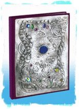 Sue Rawley - hand-made jewelled pewter Journal book