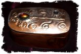 Sue Rawley - small pewter, jewelled treasure box