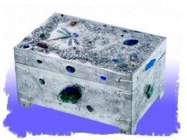 Sue Rawley - hand-made pewter casket