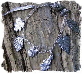 Faery jewellery - ogham leaf bracelet from Where The Wild Roses Are ©wherethewildrosesgrow