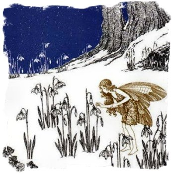 'The First Snowdrop' Ida Rentoul Outhwaite