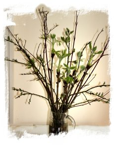 Twig decoration - early spring