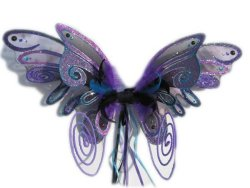 Violet fairy wings from the UK - handmade at Fairylove