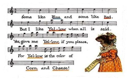 Mrs MeadowMouse's 'Yellow Song' by Johnny Rae