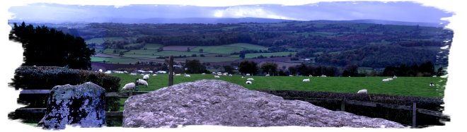 View from Arthur's Stone, Dorstone, Herefordshire ©vcsinden2014