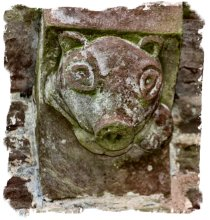 Badger corbel at Kilpeck Church, Herefordshire ©vcsinden2014