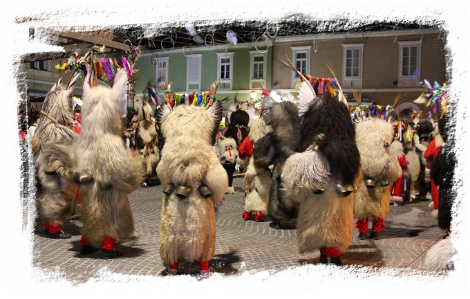 Kurents frighten away Winter in the town square of Ptuj at Kurentovanje, Slovenia  ©vcsinden2017