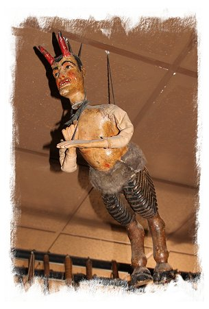 Devil puppet at the Marionette Museum, Palermo, Sicily ©vcsinden 2017
