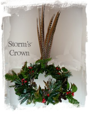 Magic crown for a dragon - winter decoration made by a fairy for a dragon