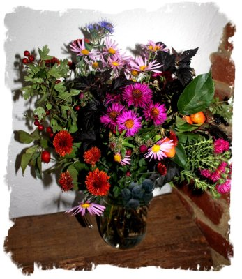 Mabon-celebration flowers by faery Muddypond Green