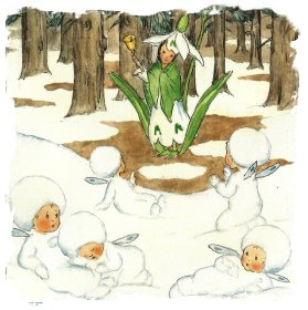 Snow babies with the Snowdrop Queen - Ida Bohatta-Morpurgo
